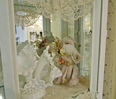 "Penny's Vintage Home: Santa Loves ""Milk"" Glass & Cookies"
