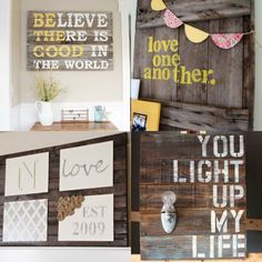 pallet wall sign