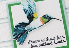 Used throat stamp on wing and twice on neck, added second wing and tail. Neat! Hummingbird - Picture Perfect Stamp Set from Stampin Up! From Brandy's Cards.