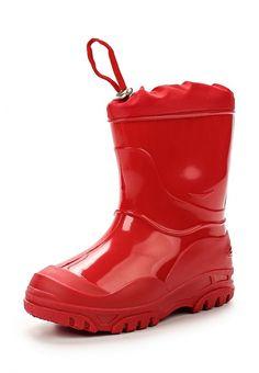 Резиновые сапоги Каури  Резиновые сапоги Каури. Цвет: красный. Материал: резина. Сезон: Осень-зима 2016/2017. Одежда, обувь и аксессуары/Обувь/Обувь для мальчиков