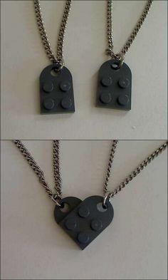 Idée très simple pour collier de meilleures amies ! :)