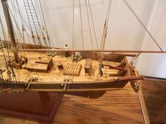 Ship Model of the Harvey, 1847, Baltimore, Maryland in Case