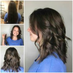 Huge haircut by Melissa  #iamsalonanddayspa #hairdonation #aveda #melissaiam #hair #stylist #whatsupwilmington #wilmingtonnc #wilmingtonstylist #modernsalon #americansalon #cb #carolinabeach #wb #wrightsvillebeach #wilmington #hairbrained #behindthechair #summertofallhair #locksoflove #wigsforkids