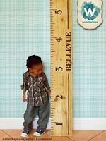 Wood-burned Growth Chart.  Wow--that's a BIG project!! :)