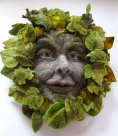 Taking part in a Blog Hop, answering questions and my work and creative life.  Featuring the Green Man in needlefelt.