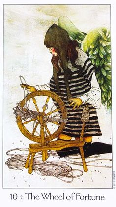 Dreaming Way Tarot Wheel of Fortune Card Meaning Wheel Of Fortune Tarot, Tarot Significado, Fortune Cards, Love Tarot Reading, Online Tarot, Tarot Card Meanings, Major Arcana, Ways Of Seeing, Oracle Cards
