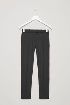 COS image 2 of Tailored wool trousers in Black