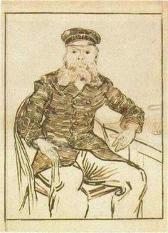 Joseph Roulin, Three-Quarter-Length - Vincent van Gogh