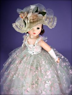 Cissy 1958 #2282 painted tulle gown