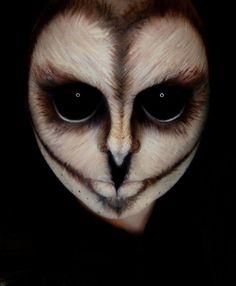 sehr realistische Gesicht Schminke - Eule