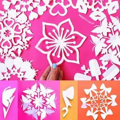 DIY Halloween snowflake templates: Holiday decorations • Happythought Snowflake Template, Paper Snowflake Designs, Snowflake Stencil, Snowflake Craft, Snowflake Decorations, Snowflake Pattern, Valentine Decorations, Christmas Decorations, Paper Snowflakes