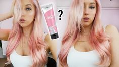 So I decided to dye my hair pink! I saw this girl working in a coffee shop who had pink hair and I loved it, I ask her what dye she used and she said Joico. Hair Tips, Hair Hacks, Hair Inspo, Hair Inspiration, Hair Extension Care, Types Of Hair Extensions, Joico Color, Dying My Hair, Glamorous Hair