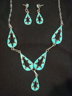 Turquoise in Native American jewelry by Zuni