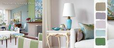 Thanks Sarah Richardson! My new living room color palette: blue, green, lavender, gray.