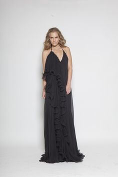 CHRISTOS COSTARELLOS SS 13 Christos Costarellos, All Black Everything, Bridesmaid Dresses, Wedding Dresses, Black Is Beautiful, Lbd, Ready To Wear, Spring Summer, Gowns