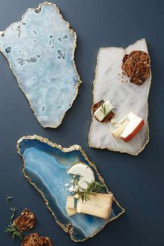 Anthropologie Home Agate Cheese Board