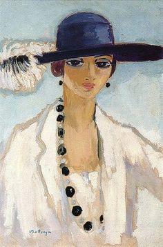 Kees van Dongen (1877-1968) Frans schilder van Nederlandse afkomst, hij werd vooral bekend door zijn portretten en figuurstukken, maar hij schilderde ook enkele Hollandse landschappen. Sinds 1897 verbleef Van Dongen in Parijs op Montmarte. Tot 1913 werkte hij in fauvistische trant, maar na de Eerste Wereldoorlog werd zijn werk realistischer. Hij was de grote modeschilder van Parijs, de portrettist bij uitstek van de mondaine wereld