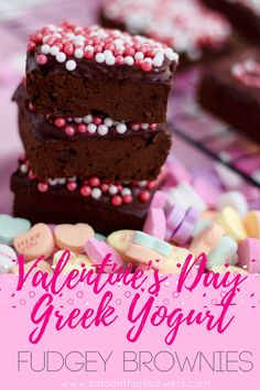 Valentine's Day Greek Yogurt Fudgey Brownies