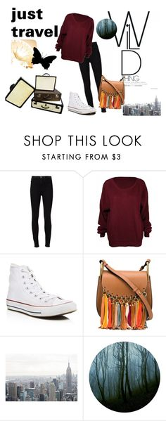 """""""just travel"""" by kristin-k1234 on Polyvore featuring Frame Denim, Converse and Chloé"""