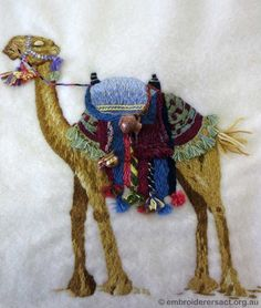 Camel - Thread Painting Stitched by Jillian Bath from a Jenny Mcwhinney Class in Thread painting August 2013.