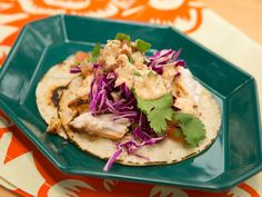 Fish Tacos with Creamy Chipotle Sauce and Pico de Gallo recipe from Katie Lee via Food Network