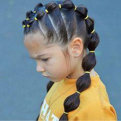 Ideas Braids For Kids Hair Beauty Cute Little Girl Hairstyles, Baby Girl Hairstyles, Box Braids Hairstyles, Stylish Hairstyles, Simple Hairstyles, Black Hairstyles, Hairstyle Ideas, Girls Braided Hairstyles, Hair Plaits