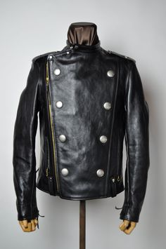THE REAL McCOY'S omg a LEATHER PEACOT Napoleon style!