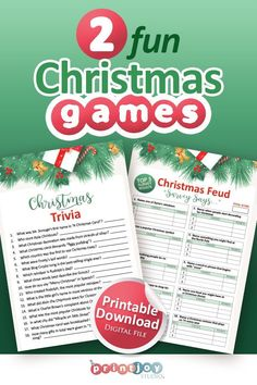 Christmas Family Feud, Christmas Games To Play, Christmas Trivia Games, Printable Christmas Games, Holiday Games, Christmas Makes, Christmas Fun, Baby Shower Printables, Party Printables