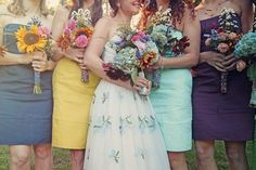 their bouquets!!!! are making me almost cry, ha, I love them!!! :)