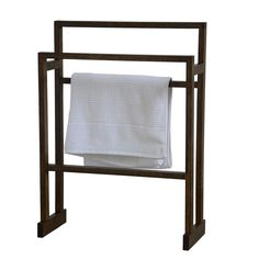 Wireworks Dark Oak Mezza Towel Rail