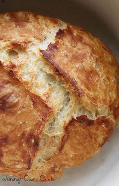 Easy To Make Crusty Bread recipe from Jenny Jones (Jenny Can Cook) - Anyone can make this crusty loaf – it's foolproof.