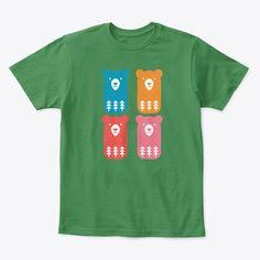 Bear Design, Mens Tops, T Shirt, How To Wear, Color, Fashion, Colour, Tee, Moda