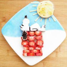 Snoopy food art by Sandra en Jaira Dutchies (@keukenknutsels)