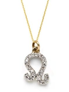 """Our mini """"Leo"""" zodiac pendant is made of yellow gold with pave diamonds and is featured on a chain. Leo Horoscope, Leo Zodiac, August Baby, 23 August, Leo Diamond, Leo Girl, Leo Love, Cute Jewelry, Body Jewelry"""
