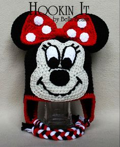 Minnie Mouse Inspired Crocheted Hat