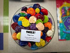 During the winter, most of the students were working on clay projects. The 2nd and 3rd graders used their leftovers pieces of clay to create smiley faces to give away to others in need of a smile. …