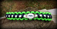 NFL Seattle Seahawks Football  Paracord Bracelet Measurements Required | ruCHARMED - Jewelry on ArtFire