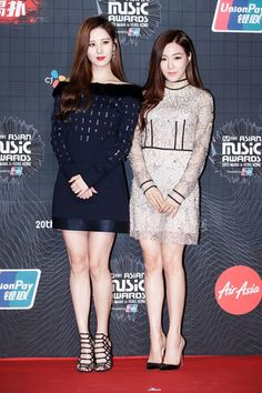 151202 - MAMA Seohyun and Tiffany red carpet Snsd Fashion, All Fashion, Asian Fashion, Fashion Outfits, Asian Woman, Asian Girl, Kpop Mode, Girl's Generation, Pantyhose Outfits
