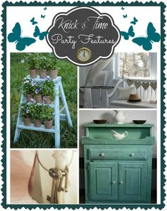 Vintage Decor, Repurposed Projects and Upcycled Crafts features from the Vintage Inspiration Party at KnickofTime.net