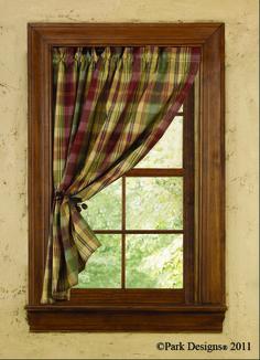country curtains | Tin Bin Folkways: Homespun Country Curtains