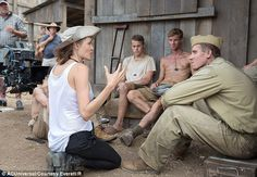 Doing her bit: Angelina Jolie 'didn't eat much' when directing new movie, Unbroken to support dieting actors who were portraying prisoners of war