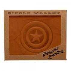 Marvel Captain America Leather Bi-Fold Wallet | Soopdupe