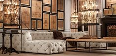 My all time Favorite!! I will visit this showroom one day!!!...Soho Tufted | Restoration Hardware