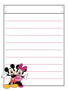 Mickey & Minnie with title box - Project Life Disney Journal Card Scrapbook Journal, Journal Cards, Scrapbook Cards, Vacation Scrapbook, Disney Scrapbook, Disney Crafts, Disney Fun, Free Printable Stationery, Disney Printables