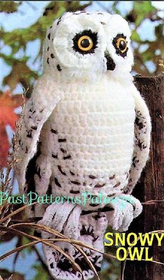 Harry Potter Patterns - Häkeltiere Harry Potter Patterns Check out this cool vintage snowy owl crochet pattern! He looks just like Hedwig from Harry Potter! Perfect crochet amigurumi stuffed owl pattern to make for the Potterhead in your life! Owl Crochet Patterns, Crochet Birds, Owl Patterns, Amigurumi Patterns, Amigurumi Doll, Crochet Animals, Craft Patterns, Amigurumi Animals, Crocheted Flowers
