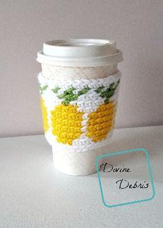 Pineapples Mug Cozy free crochet pattern by Divine Debris