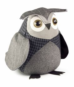 Little Owl Doorstop by Dora Designs- one of five British Owl doorstops