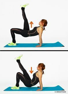 Abs and buttocks workout. Body Fitness, Health Fitness, Buttocks Workout, Band Workout, Back Muscles, Abdominal Muscles, Vinyasa Yoga, Aerobics, Easy Workouts