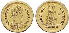 Western Roman Empire AV Solidus ND Emperor Valentinian II 375-92 AD Constantinople Mint My coll.