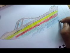 how to draw a kids speed boat step by step for kids Easily Boat Drawing, Chalk Wall, Speed Boats, Step By Step Drawing, Learn To Draw, Doodles, Crafty, Dog, Drawings